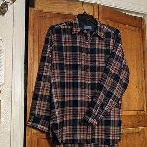 Men's XL Pendleton wool button up shirt